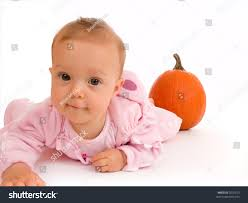 baby girls halloween costume baby wearing pink halloween costume stock photo 2020273