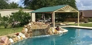 Awning Over Patio Custom Free Standing Awning Over Swimming Pool La Vernia Texas
