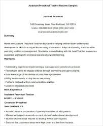 Teacher Assistant Resume Sample Skills by Professional Teacher Resume Templates 23 Free Word Pdf