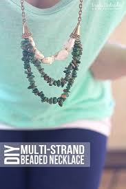 diy necklace bead images Beaded multi strand diy necklace jpg