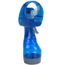 water bottle misting fan new portable hand held battery power fan air water mist bottle