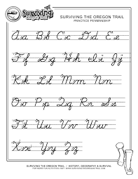 how write cursive handwriting free print alphabet letter worksheets free abc s printable