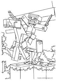 minecraft sword coloring pages getcoloringpages