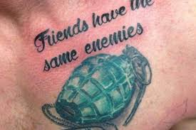 heroin dealer pal of dale cregan shows off vile grenade tattoo