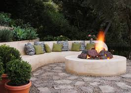 Fire Pit Lava Rock by Garden Fire Pit Design Ideas