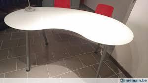 bureau verre ikea bureau table en verre trempé blanc 160 91 ikea tb etat a