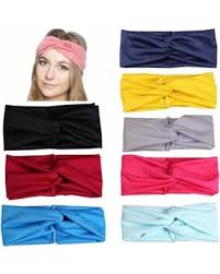 deal alert 8pcs women elastic turban wrap headband cross