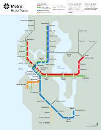 Nj Train Map Seattle Metro Rapid Transit Map U201ccirca U201d 1990
