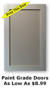 Unfinished Shaker Cabinet Doors As Low As - Kitchen cabinet doors prices