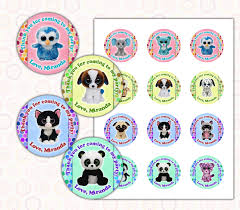 beanie boo u0027s thank you cards round images printable by edparty