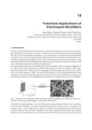 functional applications of electrospun nanofibers pdf download