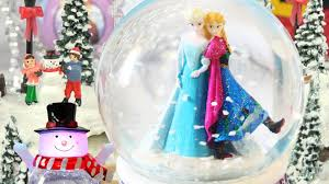 frozen princess sisters christmas gifts snow globes glitter