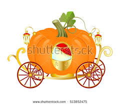 pumpkin carriage vector cinderella orange pumpkin carriage stock vector