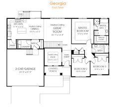 a great rambler house plan the georgia has 3 bedrooms and is