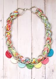 braided chain necklace images Pretty clay bunting and braided chain necklace jpg