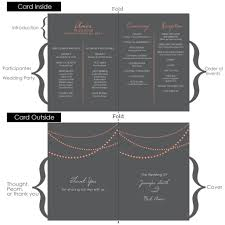 Wedding Program Layout What Should Be Included In A Wedding Program