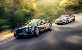 bentley continental 2017 2017 bentley continental gt convertible vs 2017 mercedes amg s63