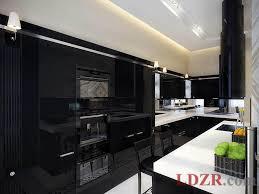 Kitchen Luxury Design Kitchen Luxury Black And White Kitchen With Black Cabinet And