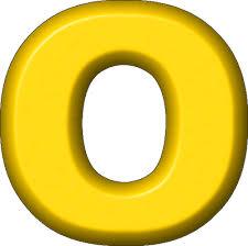 presentation alphabets yellow refrigerator magnet o