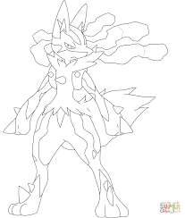 mega lucario coloring free printable coloring pages pokemon