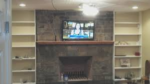 fireplace amazing mounting a tv to a brick fireplace decorating