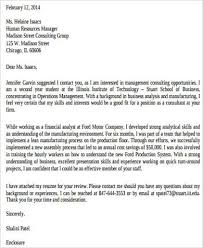 sample consulting cover letter 8 examples in word pdf