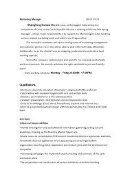 Catering Job Description Resume by Channel Sales Manager Cover Letter
