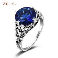 anime wedding ring 925 sterling silver wedding crown ring anime created sapphire