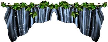 Simpsons Carrot Curtains Forgetmenot Blue Curtains