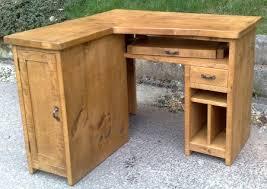 Corner Computer Desk Uk Large Corner Computer Desk Rustic Plank Furniture