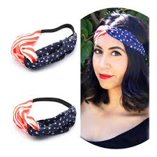 4th of july headband aliexpress buy 10pcs lot american flag turban headband 4th