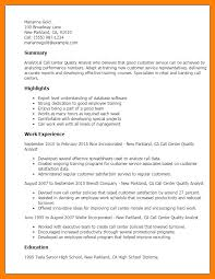 Quality Assurance Analyst Resume Sle by Call Center Quality Analyst Sle Resume Professional Call