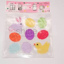 Easter Egg Window Decorations by In53379 Easter Egg Window Decoration Sticker Jelly Gel Sticker For