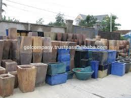 wholesale bowl rustic copper pots round dark clay vase garden
