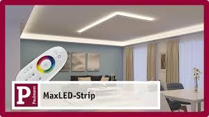 Wohnzimmer Mit Indirekter Beleuchtung Indirekte Blendfreie Led Raumbeleuchtung Mit Maxled Strips Youtube