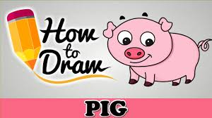 Halloween Drawings Easy How To Draw A Cute Pig Easy Step By Step Cartoon Art Drawing