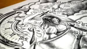 custom tattoo design half sleeve youtube