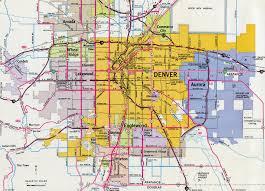 Map Denver Colorado by Colorado Aaroads Denver