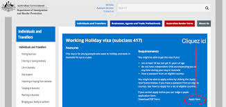 bureau d immigration australien tutoriel demande de whv australie pas à pas
