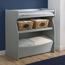 Changing Table Shelves by Delta Children 2 In 1 Changing Table U0026 Storage Unit Grey