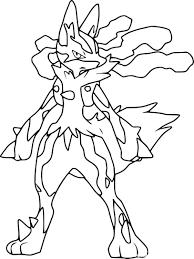 Coloriage MégaLucario Pokemon à imprimer sur COLORIAGES info