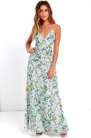 blue floral print dress maxi dress sleeveless dress 84 00