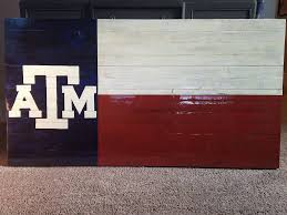 Texas Flag Chile Flag Rustic Wooden Texas A U0026m Flag