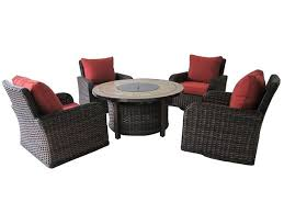 Propane Outdoor Firepit Kinger 5 Propane Gas Firepit Set Includes 4 Cushioned
