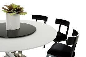 Dining Room Table With Lazy Susan by A U0026x Spiral Modern Round White Dining Table With Lazy Susan