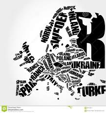 World Cloud Map by World Map In Typography Word Cloud Stock Illustration Image