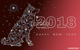 happy new years posters happy new year 2018 year dog design zodiac poster postcards