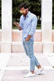 men u0027s white and blue vertical striped dress shirt light blue
