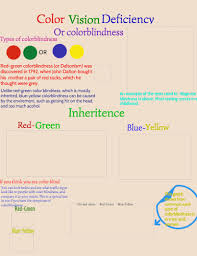 What Causes Red Green Color Blindness Color Blindness Infographic By Hannah Melega Infographic