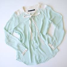 mint blouse 73 zara tops zara mint and white blouse with bow from